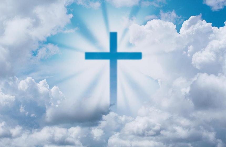 Korset och moln.